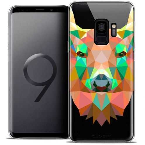 "Coque Crystal Gel Samsung Galaxy S9 (5.8"") Extra Fine Polygon Animals - Cerf"