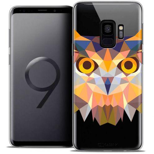 "Coque Crystal Gel Samsung Galaxy S9 (5.8"") Extra Fine Polygon Animals - Hibou"
