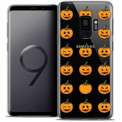"Coque Crystal Gel Samsung Galaxy S9 (5.8"") Extra Fine Halloween - Smiley Citrouille"