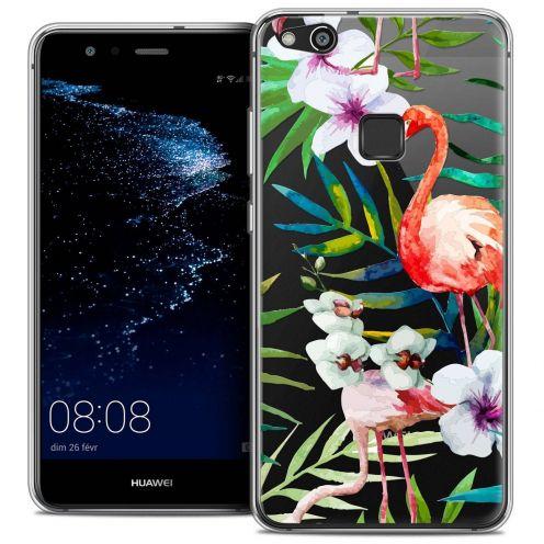 "Coque Crystal Gel Huawei P10 LITE (5.2"") Extra Fine Watercolor - Tropical Flamingo"