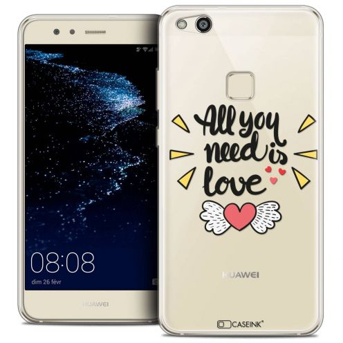 "Coque Crystal Gel Huawei P10 LITE (5.2"") Extra Fine Love - All U Need Is"