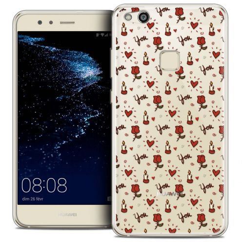 "Coque Crystal Gel Huawei P10 LITE (5.2"") Extra Fine Love - Bougies et Roses"