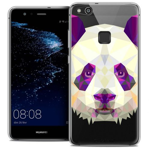 "Coque Crystal Gel Huawei P10 LITE (5.2"") Extra Fine Polygon Animals - Panda"