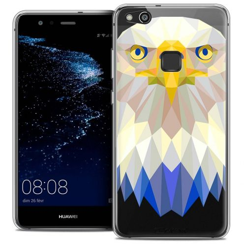 "Coque Crystal Gel Huawei P10 LITE (5.2"") Extra Fine Polygon Animals - Aigle"