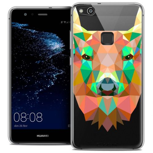 "Coque Crystal Gel Huawei P10 LITE (5.2"") Extra Fine Polygon Animals - Cerf"