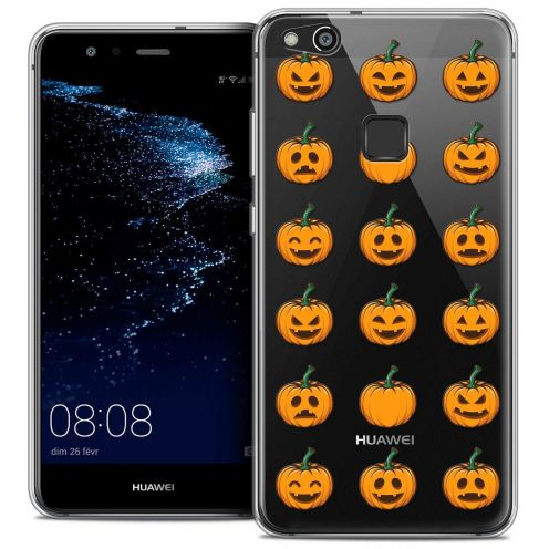 "Coque Crystal Gel Huawei P10 LITE (5.2"") Extra Fine Halloween - Smiley Citrouille"