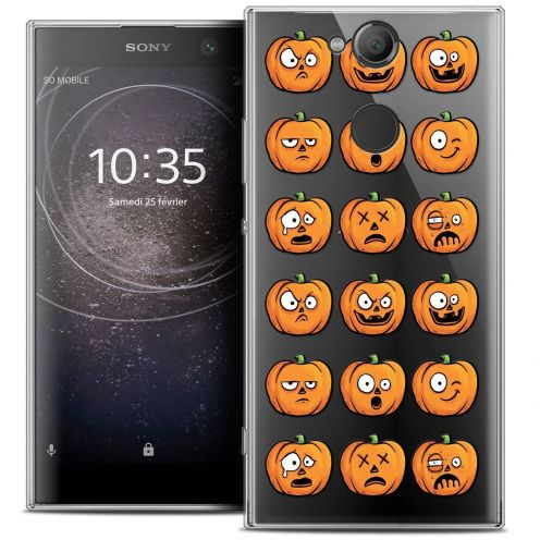 "Coque Crystal Gel Sony Xperia XA2 (5.2"") Extra Fine Halloween - Cartoon Citrouille"