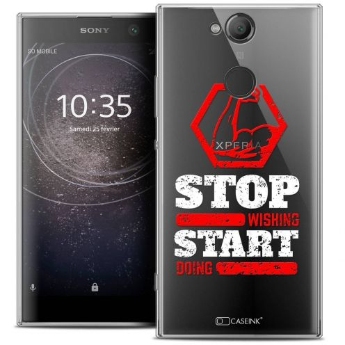 """Coque Crystal Gel Sony Xperia XA2 (5.2"""") Extra Fine Quote - Start Doing"""