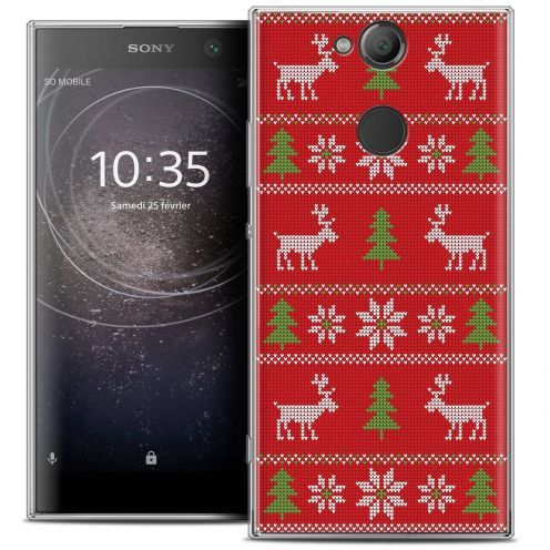 """Coque Crystal Gel Sony Xperia XA2 (5.2"""") Extra Fine Noël 2017 - Couture Rouge"""