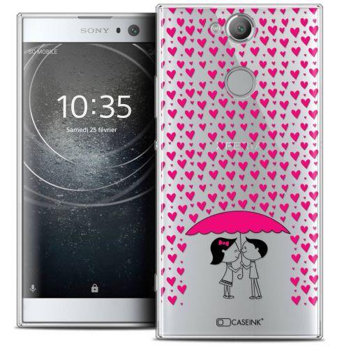 "Coque Crystal Gel Sony Xperia XA2 (5.2"") Extra Fine Love - Pluie d'Amour"