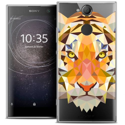 "Coque Crystal Gel Sony Xperia XA2 (5.2"") Extra Fine Polygon Animals - Tigre"