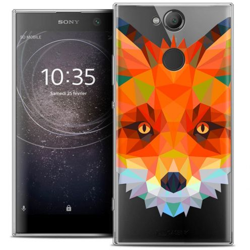 "Coque Crystal Gel Sony Xperia XA2 (5.2"") Extra Fine Polygon Animals - Renard"