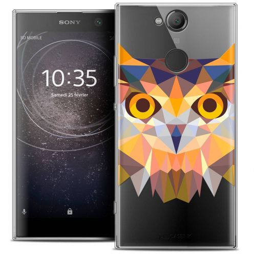 "Coque Crystal Gel Sony Xperia XA2 (5.2"") Extra Fine Polygon Animals - Hibou"