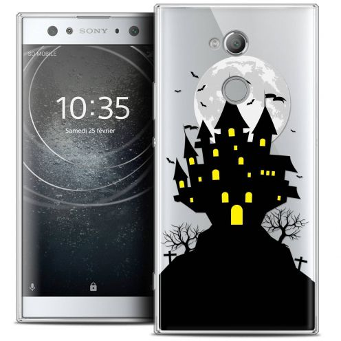 "Coque Crystal Gel Sony Xperia XA2 ULTRA (6"") Extra Fine Halloween - Castle Scream"