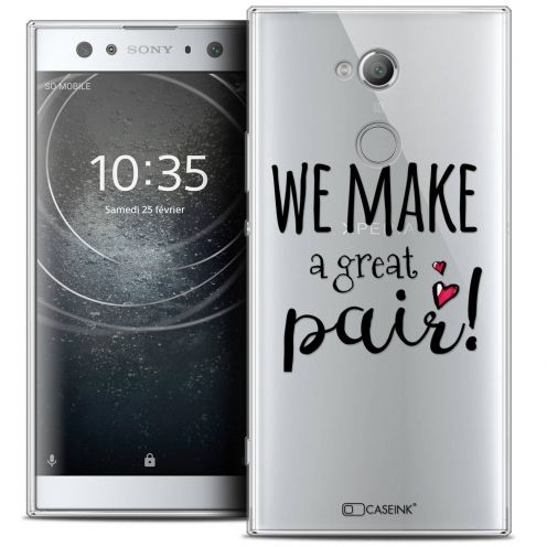 "Coque Crystal Gel Sony Xperia XA2 ULTRA (6"") Extra Fine Love - We Make Great Pair"