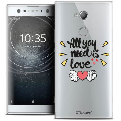 "Coque Crystal Gel Sony Xperia XA2 ULTRA (6"") Extra Fine Love - All U Need Is"