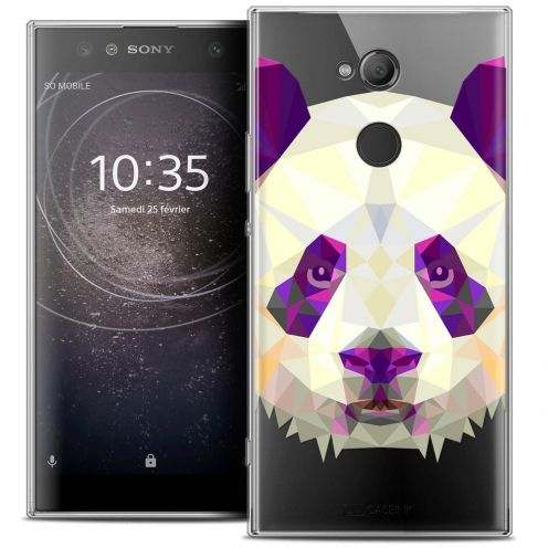 "Coque Crystal Gel Sony Xperia XA2 ULTRA (6"") Extra Fine Polygon Animals - Panda"