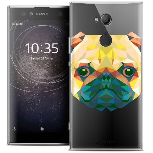 "Coque Crystal Gel Sony Xperia XA2 ULTRA (6"") Extra Fine Polygon Animals - Chien"