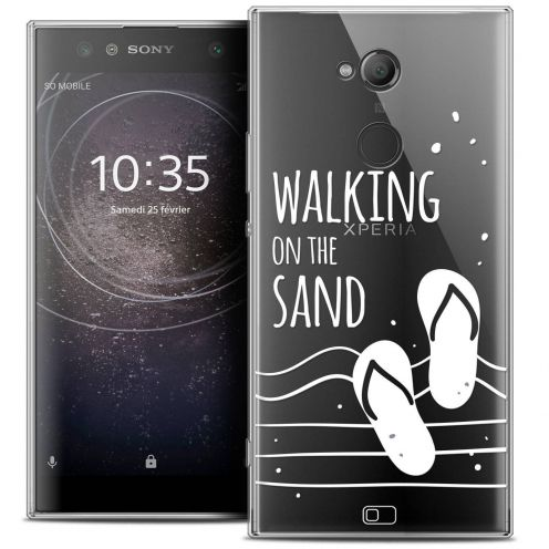 "Coque Crystal Gel Sony Xperia XA2 ULTRA (6"") Extra Fine Summer - Walking on the Sand"