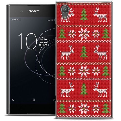 """Coque Crystal Gel Sony Xperia XA1 PLUS (5.5"""") Extra Fine Noël 2017 - Couture Rouge"""