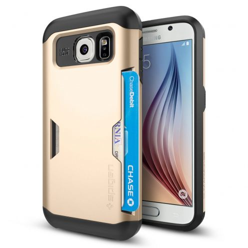 Coque Samsung Galaxy S6 SGP Spigen® Slim Armor CS Champagne