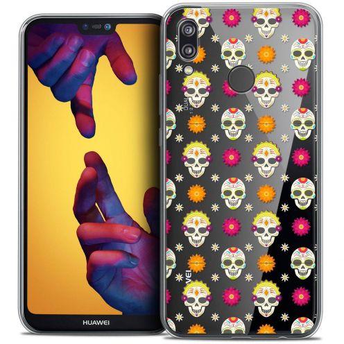 "Coque Crystal Gel Huawei P20 LITE (5.84"") Extra Fine Halloween - Skull Halloween"