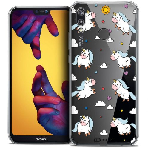 """Coque Crystal Gel Huawei P20 LITE (5.84"""") Extra Fine Fantasia - Licorne In the Sky"""