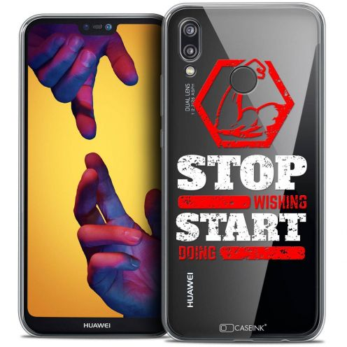 """Coque Crystal Gel Huawei P20 LITE (5.84"""") Extra Fine Quote - Start Doing"""