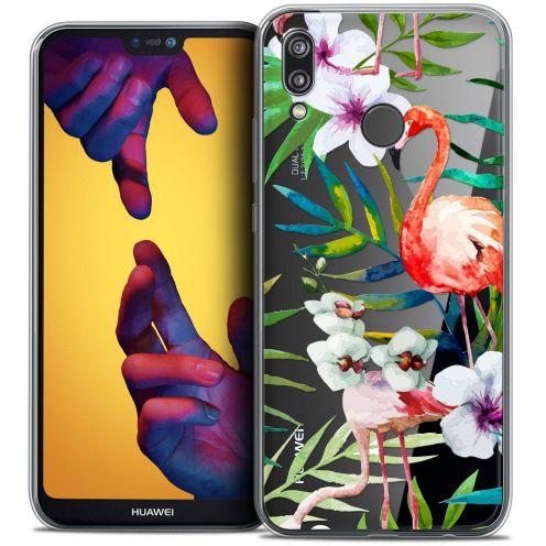 "Coque Crystal Gel Huawei P20 LITE (5.84"") Extra Fine Watercolor - Tropical Flamingo"