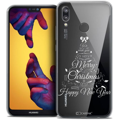 "Coque Crystal Gel Huawei P20 LITE (5.84"") Extra Fine Noël 2017 - Calligraphie"