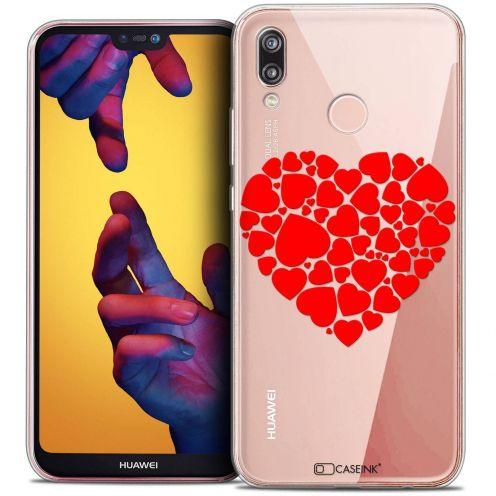 "Coque Crystal Gel Huawei P20 LITE (5.84"") Extra Fine Love - Coeur des Coeurs"