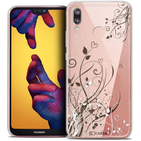 """Coque Crystal Gel Huawei P20 LITE (5.84"""") Extra Fine Love - Hearts Flowers"""