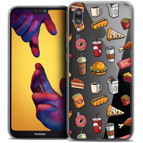 """Coque Crystal Gel Huawei P20 LITE (5.84"""") Extra Fine Foodie - Fast Food"""
