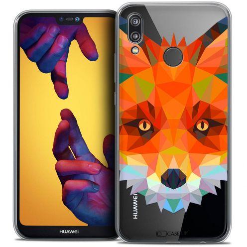 "Coque Crystal Gel Huawei P20 LITE (5.84"") Extra Fine Polygon Animals - Renard"