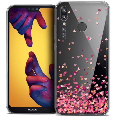 "Coque Crystal Gel Huawei P20 LITE (5.84"") Extra Fine Sweetie - Heart Flakes"