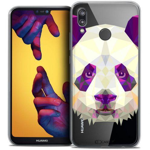 "Coque Crystal Gel Huawei P20 LITE (5.84"") Extra Fine Polygon Animals - Panda"