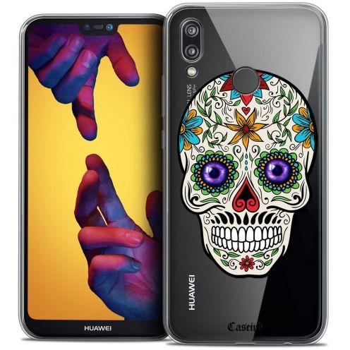 "Coque Crystal Gel Huawei P20 LITE (5.84"") Extra Fine Skull - Maria's Flower"
