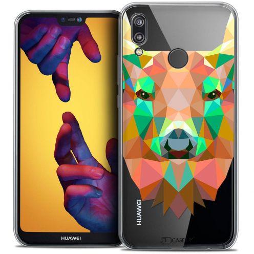 "Coque Crystal Gel Huawei P20 LITE (5.84"") Extra Fine Polygon Animals - Cerf"