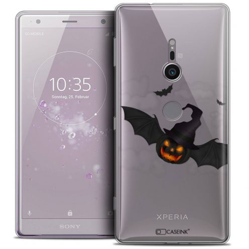 "Coque Crystal Gel Sony Xperia XZ2 (5.7"") Extra Fine Halloween - Chauve Citrouille"