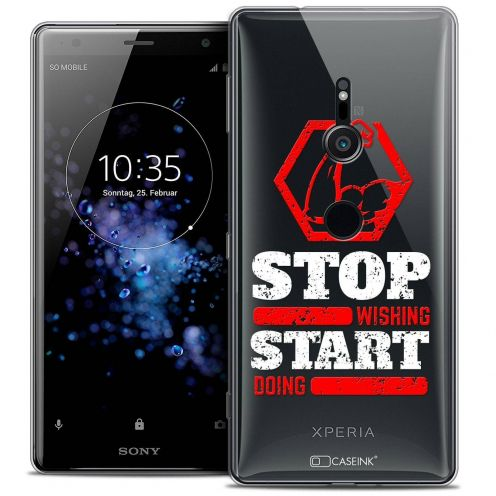 "Coque Crystal Gel Sony Xperia XZ2 (5.7"") Extra Fine Quote - Start Doing"