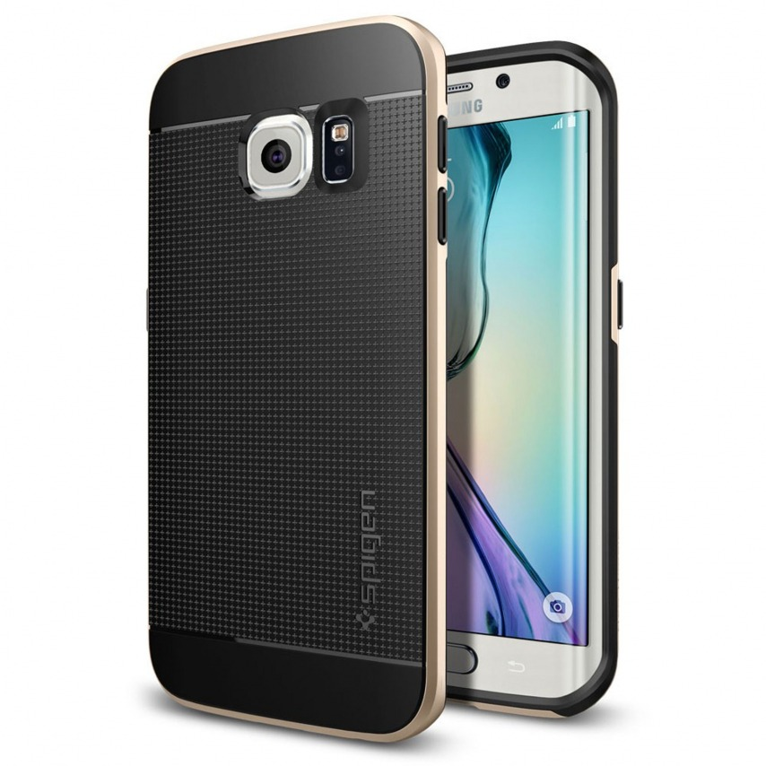 Vue portée de Coque Galaxy S6 Edge SGP Spigen® Neo Hybrid™ Series Champagne Or