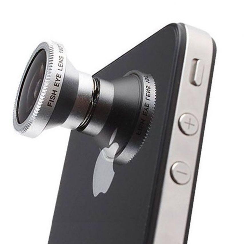 Photo réelle de Objectif Fish-Eye 180° Magnetique Photo / Video iPhone 3G / iPhone 4 / 4S