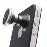 Photo réelle de Objectif Fish-Eye 180° Magnetique Photo / Video iPhone 3G / iPhone 4 / 4S
