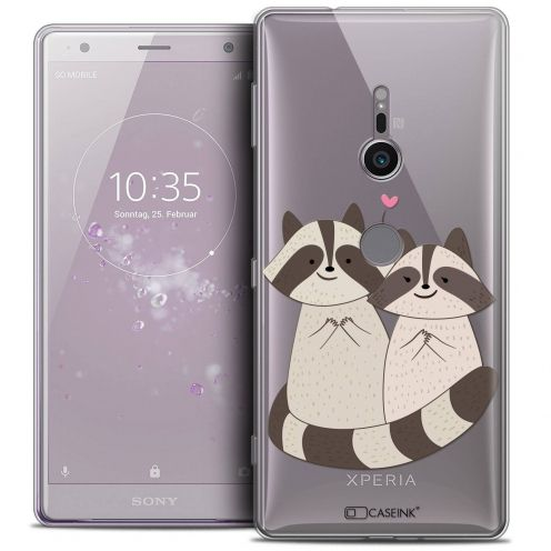 "Coque Crystal Gel Sony Xperia XZ2 (5.7"") Extra Fine Sweetie - Racoon Love"