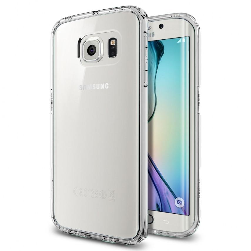 Vue Principale de Coque Galaxy S6 Edge SGP Spigen® Ultra Hybrid Crystal Clear