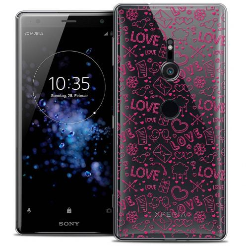 "Coque Crystal Gel Sony Xperia XZ2 (5.7"") Extra Fine Love - Doodle"