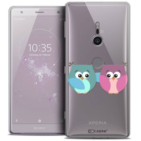 "Coque Crystal Gel Sony Xperia XZ2 (5.7"") Extra Fine Love - Hibous à deux"