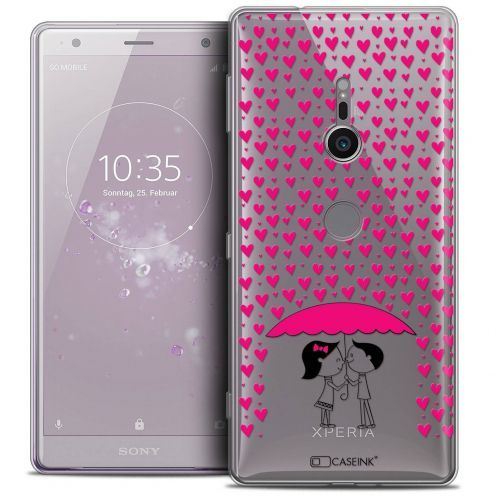"Coque Crystal Gel Sony Xperia XZ2 (5.7"") Extra Fine Love - Pluie d'Amour"