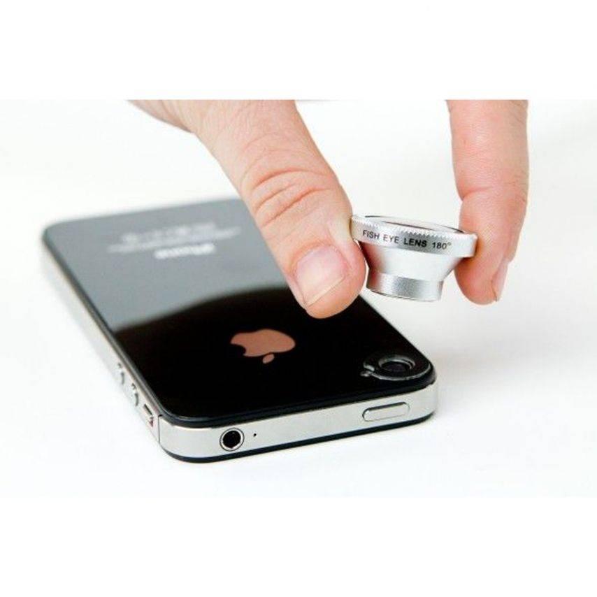 Vue portée de Objectif Fish-Eye 180° Magnetique Photo / Video iPhone 3G / iPhone 4 / 4S