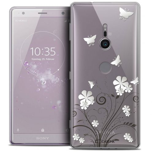 "Coque Crystal Gel Sony Xperia XZ2 (5.7"") Extra Fine Summer - Papillons"